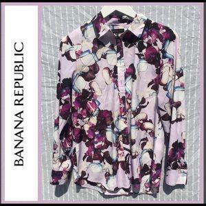 Banana Republic Floral Button Up Blouse